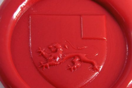 Coat of arms or heraldry wax seal